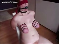 Pale amateur has her juicy tits tortured