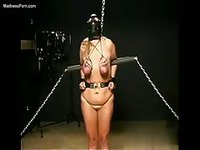 Female slave is bound and tortured