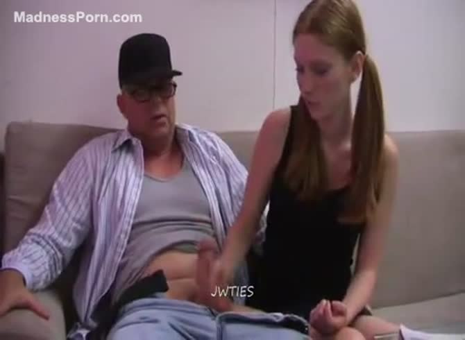 Daughter Gives Daddy Handjob
