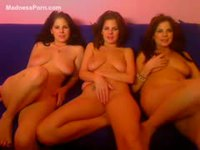 Three horny amateur sisters teasing on webcam