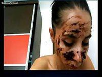 Extreme scat video featuring amateur webcam model