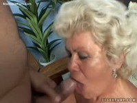 Horny granny wants a cock inside her