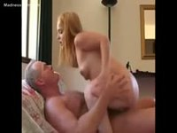 Beautiful midget whore fucking in the couch