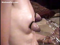 Collection of fetish loving amateurs using nipple pumps and exposing their tits