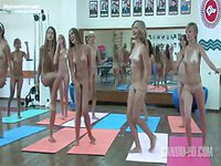 Extremely hot workout session featuring all nude amateur teenage girls