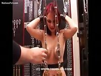 Brutal nipple clamping in this extreme newcomer bdsm movie