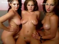 One lucky teenage girl getting to enjoy nude fun with barely legal twin sisters