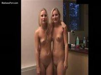 Teen twin sisters Rochelle and Shae get naked together