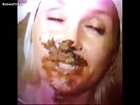 Incredible scat fetish compilation movie featuring never before seen sluts being fed shit