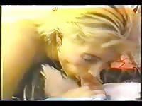 Ukrainian blonde tries small dick