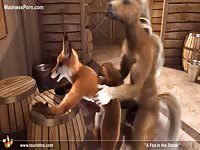 Wild animated beastiality hardcore sex flick featuring a couple of beasts fucking in the barn