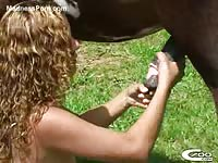 C700 Zoo Porn - College whore ends up with sore cunt after her hole gets stretched by a horse in this beast vid
