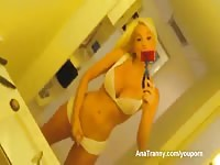 Apprehensive never before seen filthy coed showing her assets off in this recent dirty video