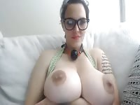 Newcomer to porn shows off her tender large breasts and pleasures herself in this sexy video