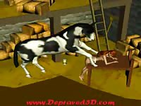 Agile never recorded before teen toon gets drilled by horse in this animation bestiality video