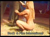 Book and Film - Petite amateur circus slut strips nude and poses by enormous elephant in this zoo fetish vid