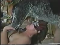 Above average amateur married trollop shows of her pole sucking abilities on a powerful dog