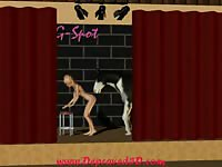 Fabulous hardcore animation bestiality movie featuring petite blonde toon slut based by horse