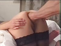 Cock wanting unknown coed stretched by stud during her first fisting insertion adventure