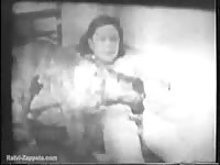 Exclusive bestiality sex footage that was captured decades ago features woman and K9