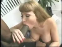 Black dick loving white older tramp gets naked and happily sucks this dudes BBC one night