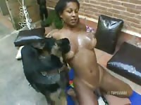 Shemale dog anal hole