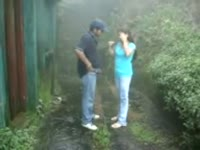 Archana Fuked Hard n Moaning in Rainy Garden 5 Mins Kingston DS