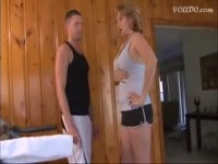 mom gives son a handjob